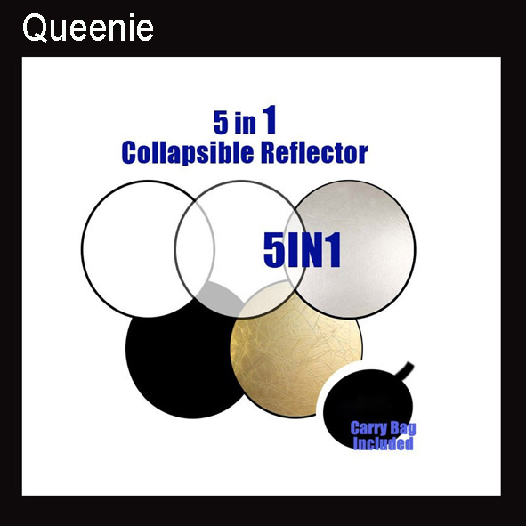 80CM 5 in 1 Studio Collapsible Multi Photo Disc Reflector